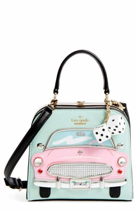 Kate Spade New York Checking In Violina Leather Clutch Kate