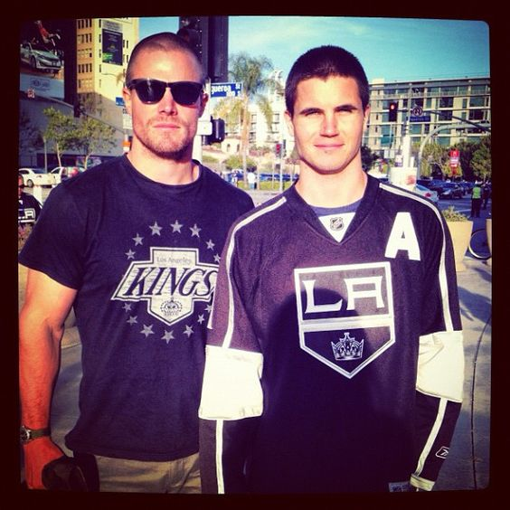 Stephen Amell and brother