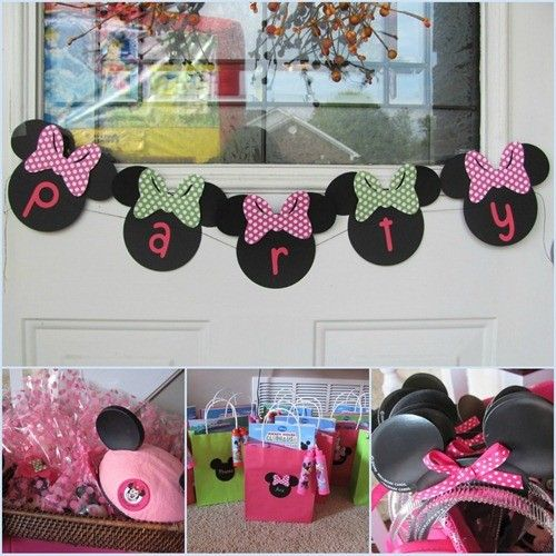 Diy minnie mouse decorations do 6 mouse heads with her for Above the crib decoration ideas