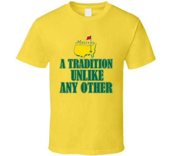 Masters Golf Tournament 2015 Tradition Sports Fan T Shirt