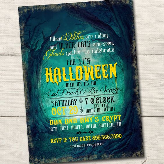 Witches Are Riding Halloween Party Invitation, PRINTABLE, Halloween Invitation, Halloween Party Invites, halloween Invite