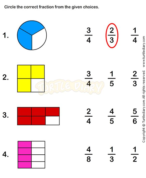 Fractions Worksheet 3 math Worksheets grade1 Worksheets – Printable Maths Worksheets for Grade 3