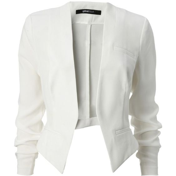 Gina Tricot - Kavajer & jackor ($30) ❤ liked on Polyvore featuring outerwear, jackets, blazers, tops, white, white blazer jacket, white blazers, white jacket, tricot jacket and blazer jacket