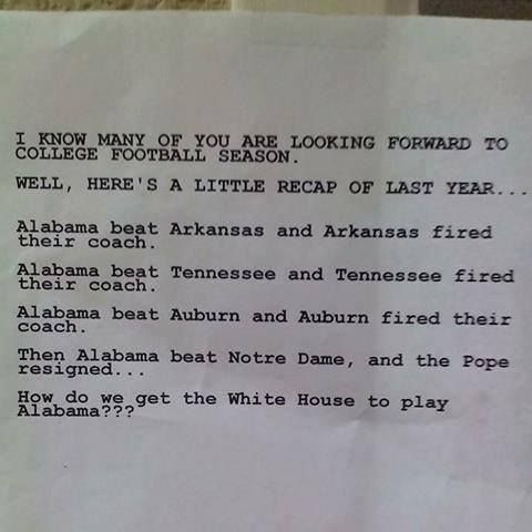 #alabama  Crimson Tide Humor