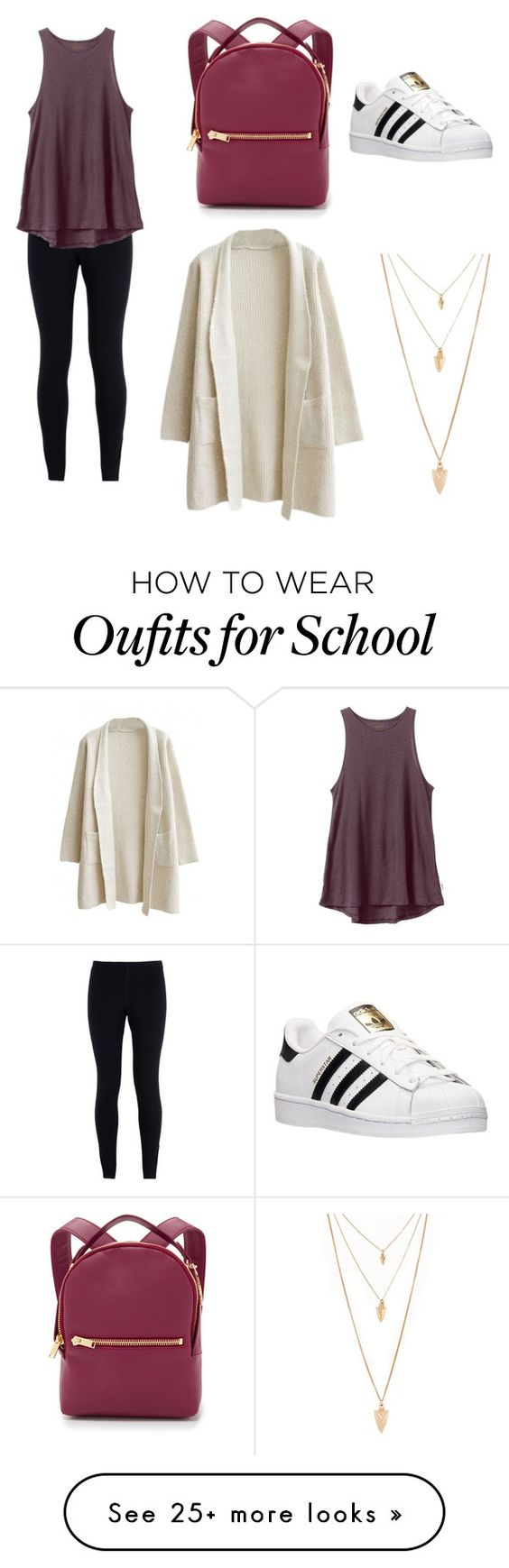 """"""" School Chic """" by hopecatherineharry on Polyvore featuring NIKE, RVCA, adidas, Sophie Hulme and Forever 21"""