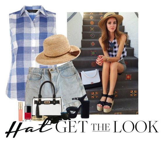 """Inspired Gingham"" by stephaniefb ❤ liked on Polyvore featuring Dorothy Perkins, American Apparel, IMoshion, Stella & Dot, J.Crew, Jil Sander, Chanel, Smith & Cult and Ray-Ban"