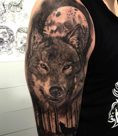 101 Best Wolf Tattoos For Men Cool Designs Ideas 2019 Update Wolf Tattoos Men Wolf Tattoos Animal Tattoos