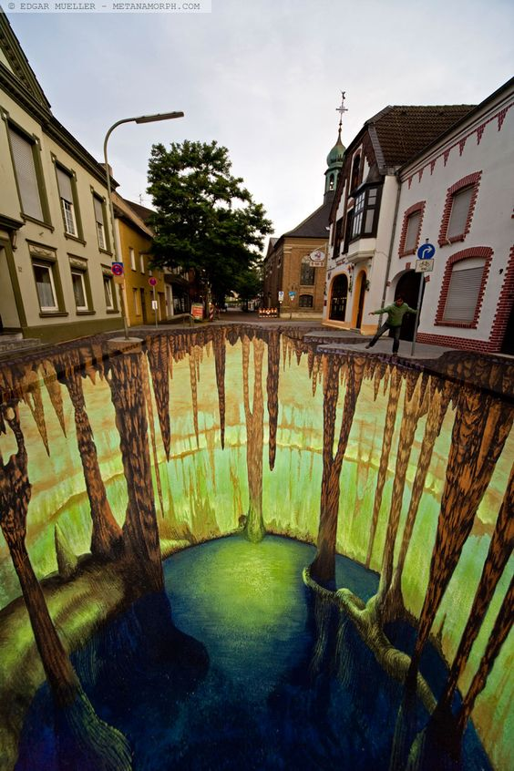 Edgar Mueller [Project] Mysterious Cave in Germany  inspo 4 optical illusion rug
