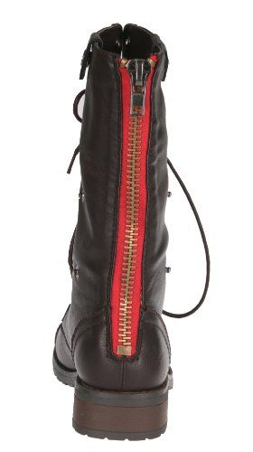 combat boots with a bright red zipper | Classy Casual | Pinterest ...