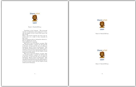 Line breaks and blank spaces - ShareLaTeX, Editor de LaTeX online