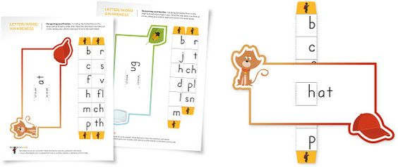 Intro to phonics and word families.  *GREAT site for preK-K developmental readiness*  Tons of nice printables