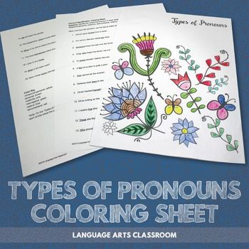 ... character types of pronouns sheet ornament page crayola images dibujos