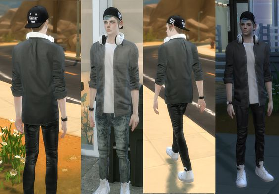 [seze]ShirtButtonOpen• 12 colors • please do not re-dit/re-upload • download