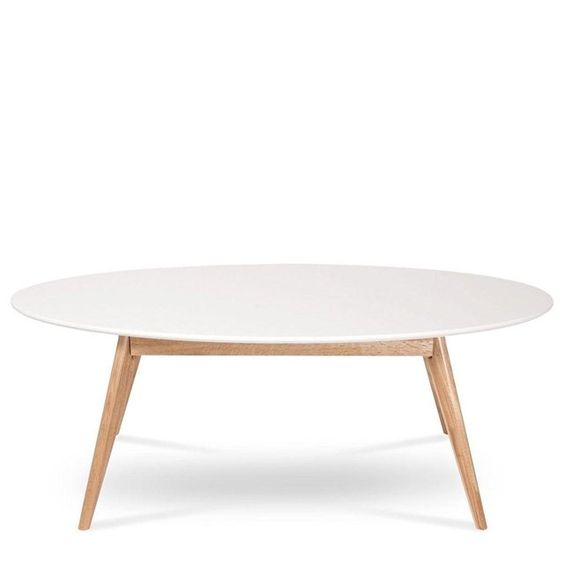Table basse ovale design scandinave skoll drawer prix for Fabriquer sa table basse scandinave