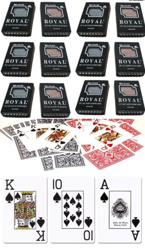 Card Games And Poker 180350 12 Deck 100 Plastic Bridge Playing Cards Red Blue Narrow Jumbo Large Index Case Bu Bridge Playing Cards Card Games Bridge Card