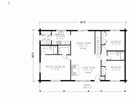 50 X 30 House Plans Unique 30x50 Home Design In 2020 Metal Building House Plans House Plans Shop House Plans