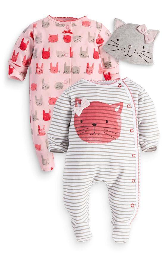 Kaufen Sie Two Pack Cat Sleepsuits And Hat (0 Monate – 2 Jahre) heute online bei Next: Deutschland