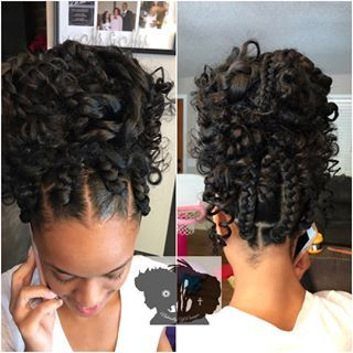 Naturally Youniquebox Braided Messy Bun Protectivestyles Naturalhair Braided Hairstyles Updo Box Braids Styling Natural Hair Styles