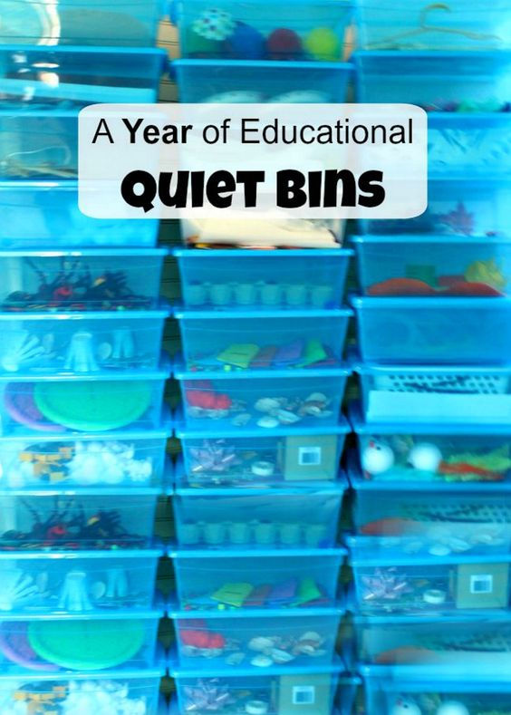 An entire year work of quiet time activities for toddlers and preschoolers! These quiet boxes are amazing and simple - and created by a Kindergarten teacher!