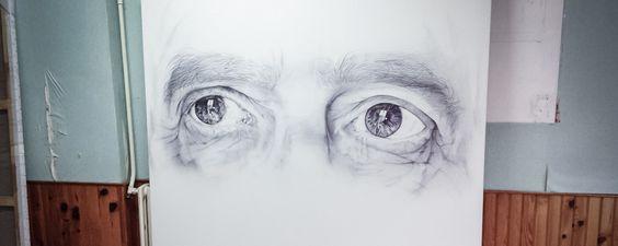 Cécile Bisciglia portraits hyperréalistes au stylo à bille Artistics.com © Bisciglia / Artistics.com