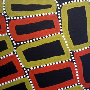 THE ARTERY CONTEMPORARY ABORIGINAL ART GALLERY - Walala Tjapaltjarri - Tingari - Men's Creation Dreaming on SALE, Acrylic on Linen. Kiwirrkurra, WA