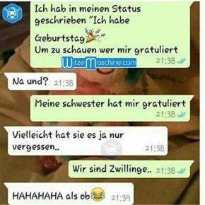 Lustige WhatsApp Bilder und Chat Fails - Dumme Zwillingsschwester ...