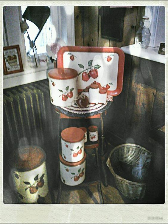 Tins...collection in our kitchen