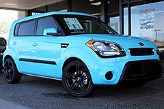 Custom Baby Blue Wrap on a new Kia Soul