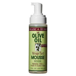 Organic Root Stimulator Olive Oil Mousse, Wrap/Set  A colored girl's best friend.