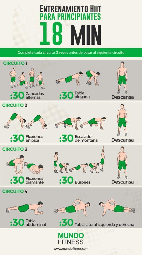rutina de gym para bajar de peso principiantes