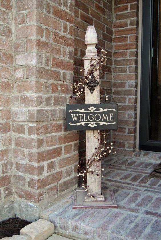 Rustic Sign Post Rustic Porch Post Wood Rustic Sign Post