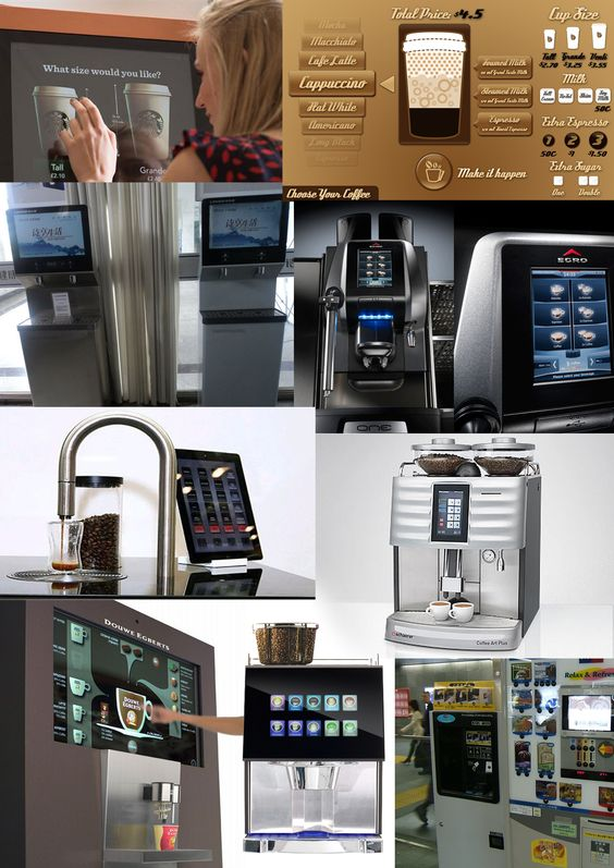 Interactive coffee machines