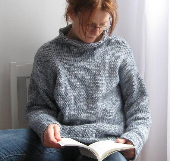 Cowl Neck Hoodie Knitting Pattern : Big Hug sweater pattern free from UandIKnits on Ravelry ...