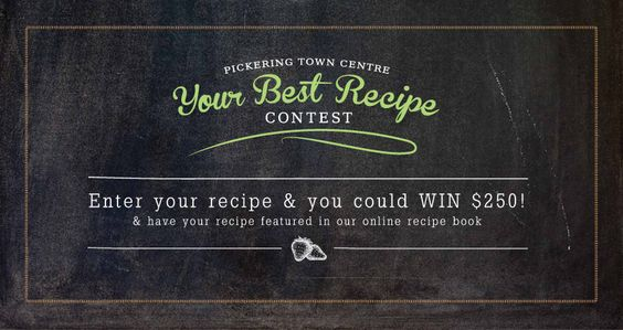 Facebook recipe contest for Pickering Town Centre