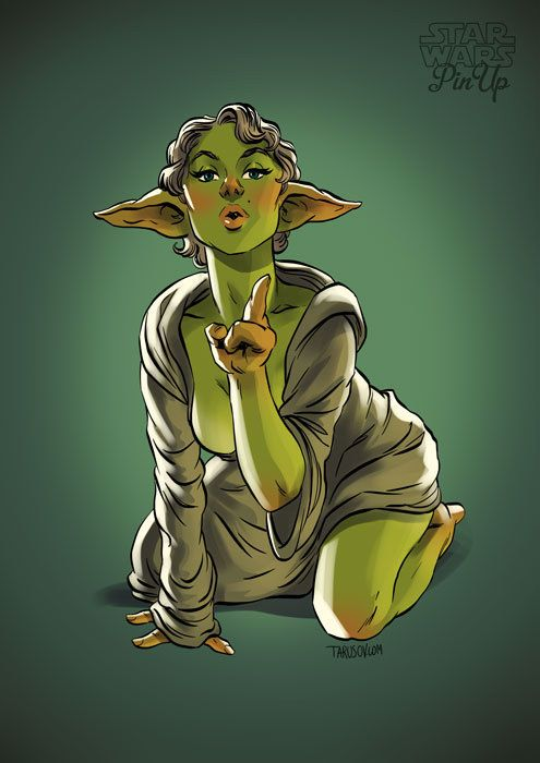 Image result for yoda jedi pinup