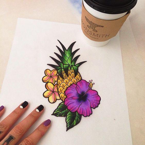 Tropical Tuesday #tropicaltattoos #traditional #bigfishtattoo #tattooflash