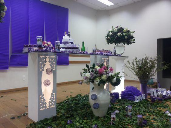 Ah esta foi a decoração feita no casamento que foi usada as garrafas!