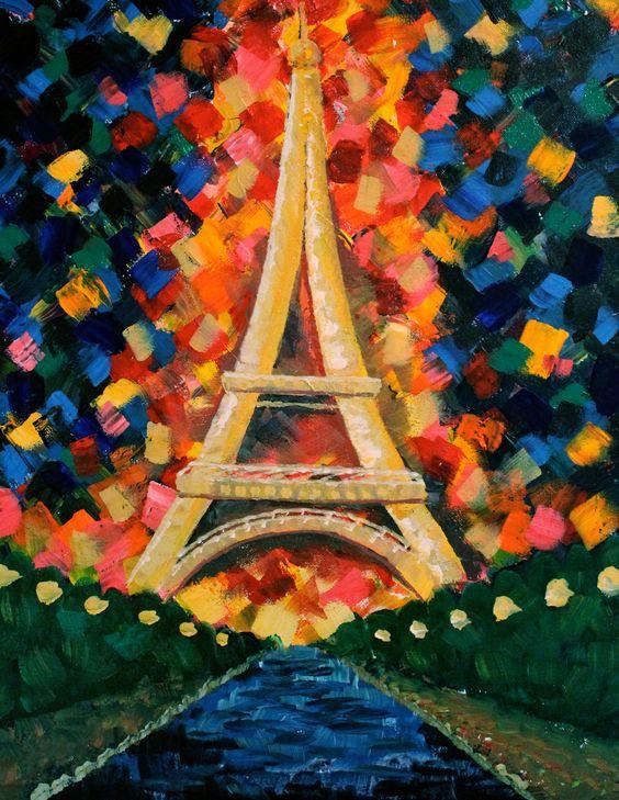www.AllisonLiffmanArt.com #art #painting #design #decor #walldecor #artist #popart #artforsale #pairs #eiffeltower #travel #france