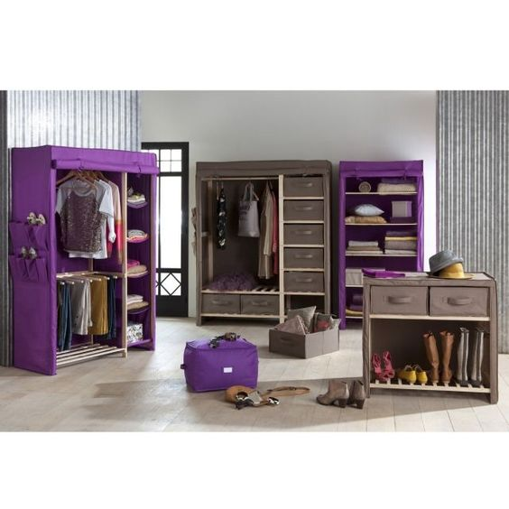 armoire de rangement tissu 1 3 ling re 2 3 pende armoires. Black Bedroom Furniture Sets. Home Design Ideas