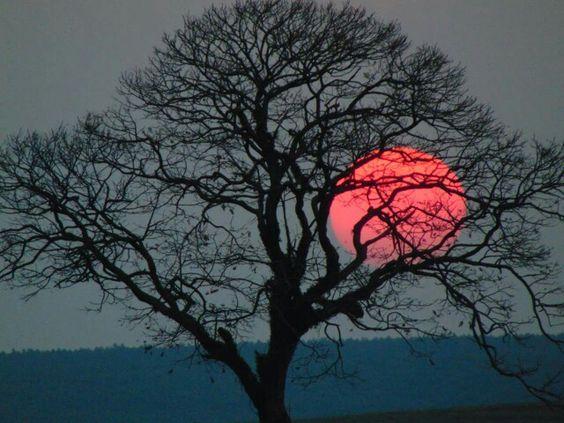 Por do sol Cidade de Itatinga SP