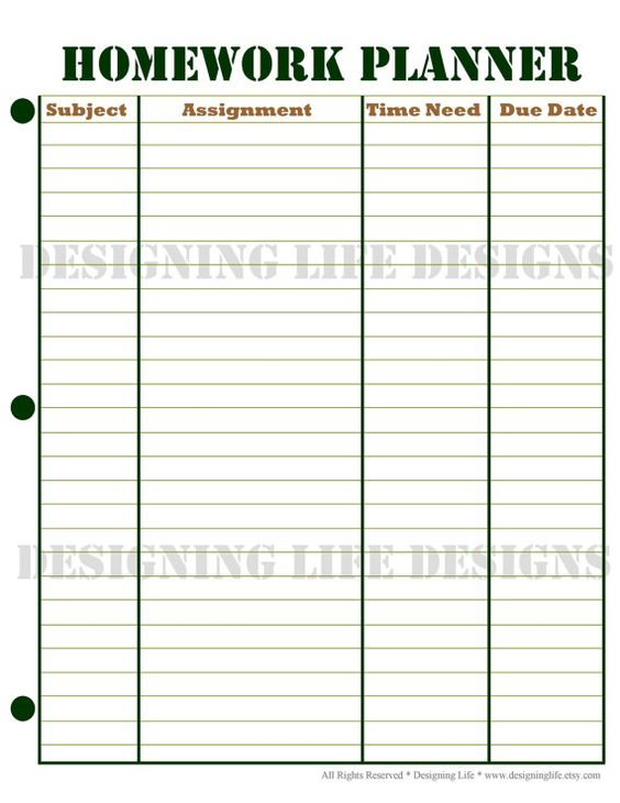 weekly student planners - Akbagreenw