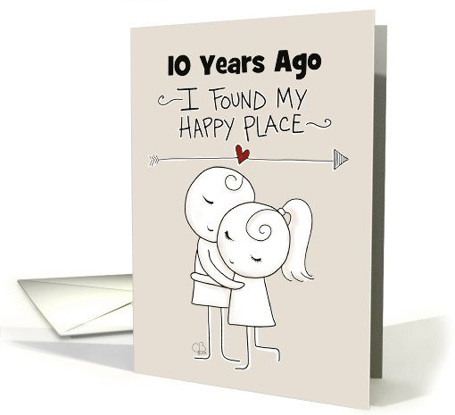 Customizable Year Happy 10th Anniversary For Wife Hugging Couple Card Happy 10th Anniversary Happy 20th Anniversary Wedding Anniversary Cards