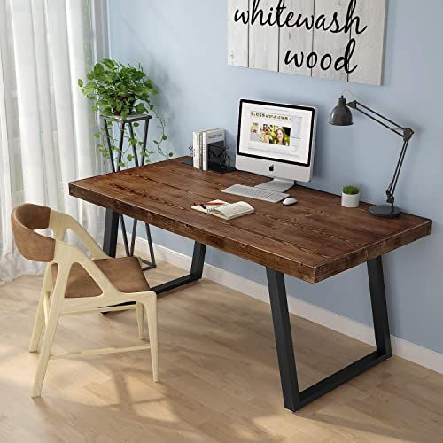 Best Seller Tribesign Solid Wood Computer Desk Industrial Rustic Office Desk Slanted Legs Classic Simple Wooden Desk Table Home Office Online Pptoplike In 2020 Wood Computer Desk Vintage Home Offices Wooden
