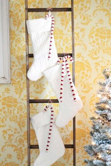 Decorating for the holidays in a DIY stenciled dining room accent ...
