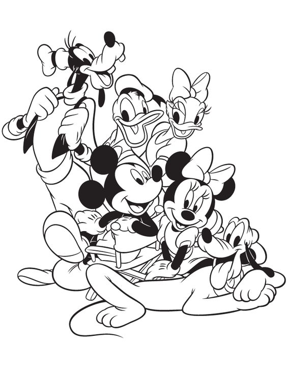 MICKEY MOUSE AND FRIENDS COLORING