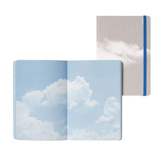 Nuuna Inspiration Clouds Blue Notebook Stationery Obsession Clouds Silk Screen Printing