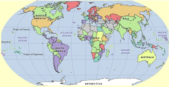 Printable World Maps With Countries Labeled World Map With - World maps online free