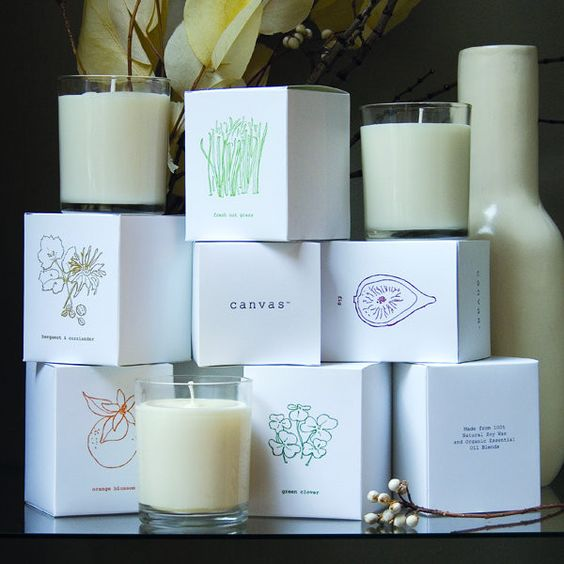 Basic Candle in Orange Blossom | Canvases, Awesome and Soy candles
