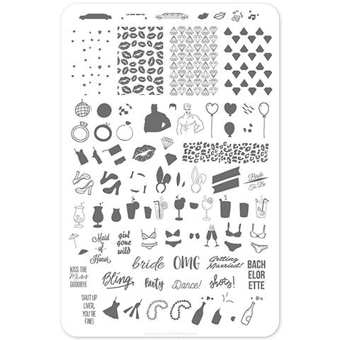 Clear Jelly Stamper- Kiss the Miss Goodbye (CjS-71)