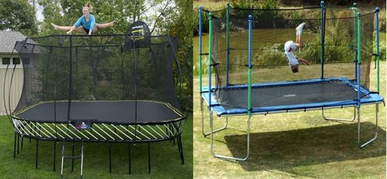 Rectangular Trampolines VS. Round Trampolines – The Duel